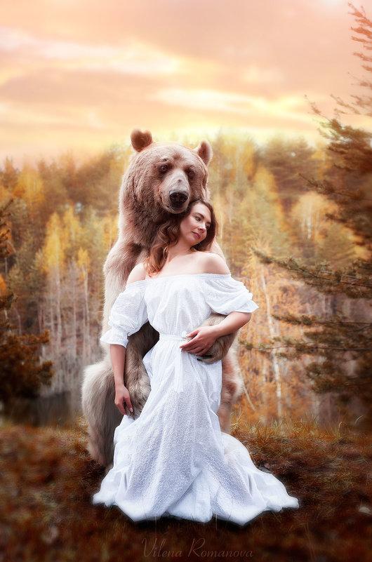 Девушка и мишка - Вилена Романова