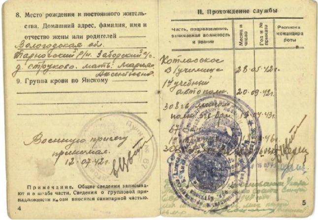 Красноармейская книжка - Владимир