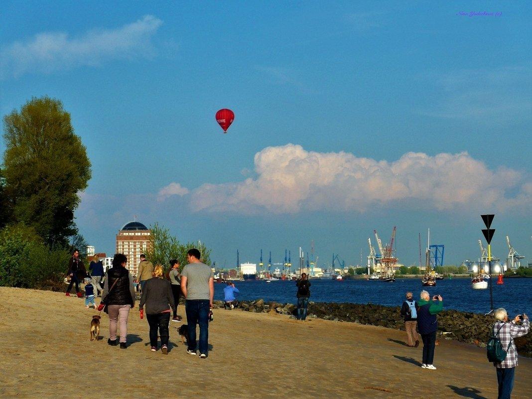 День рождения порта (серия). Фотографы и воздушный шар - Nina Yudicheva