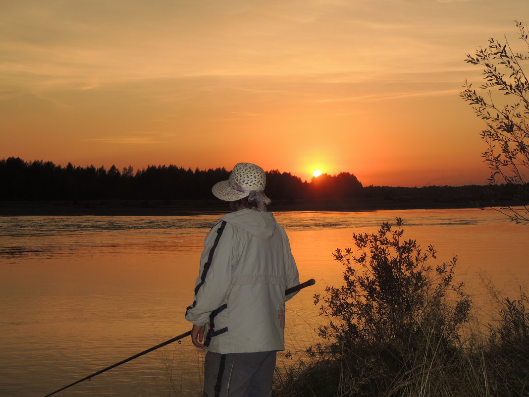 закат на Катуни - kaban-4eg Алтайский