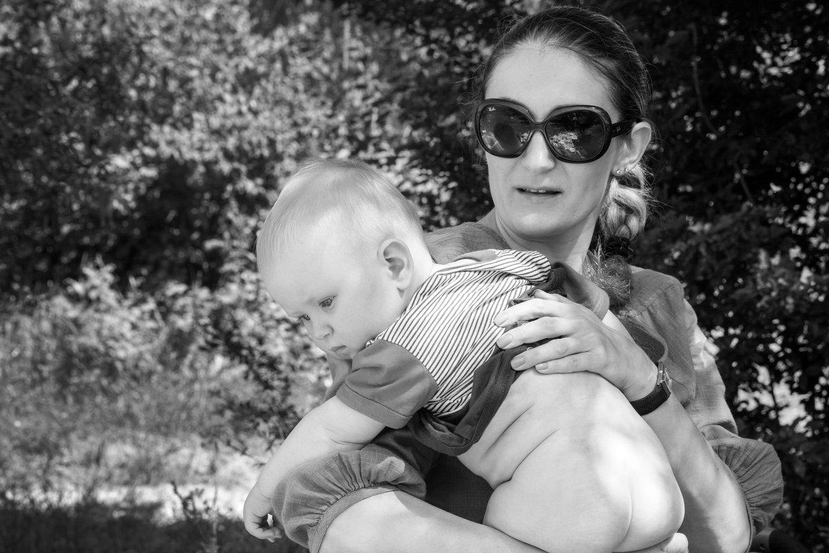 Мама с ребенком - Darina Mozhelskaia