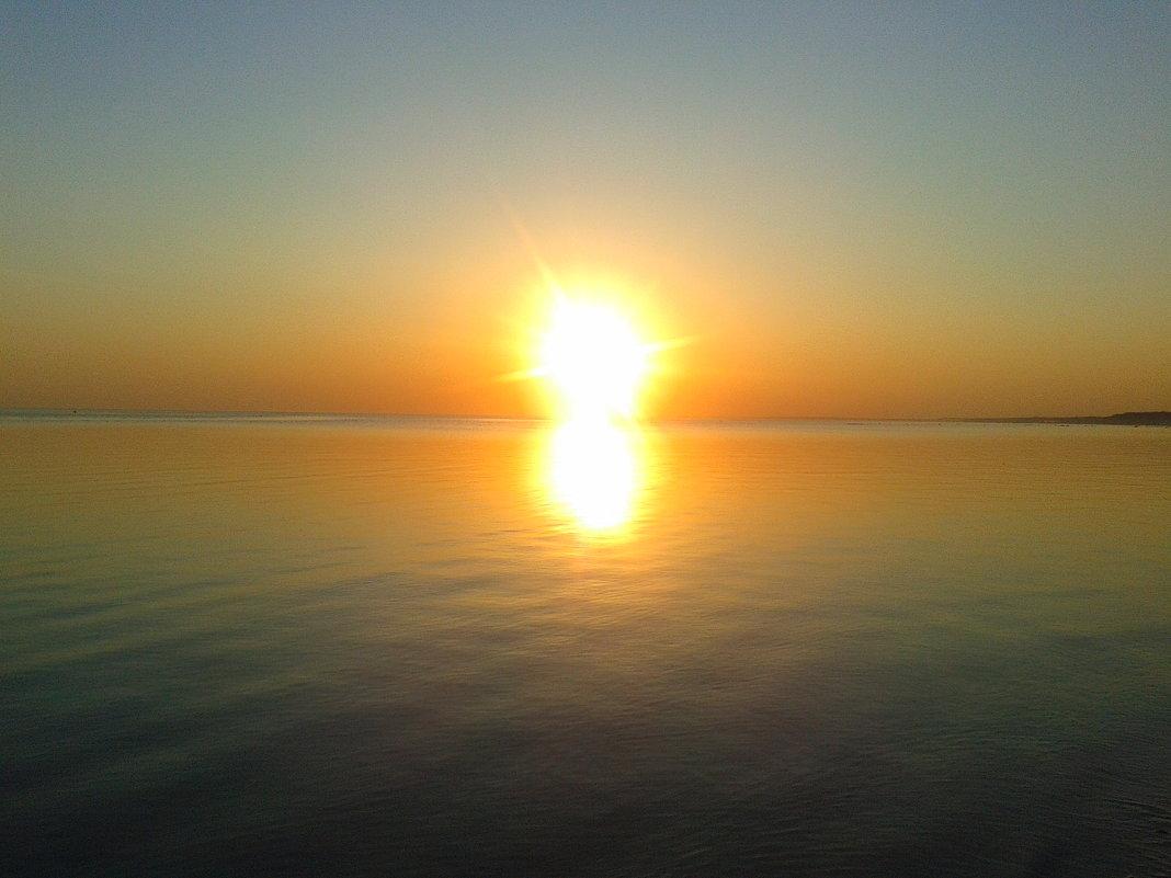 Закат на заливе - Сапсан