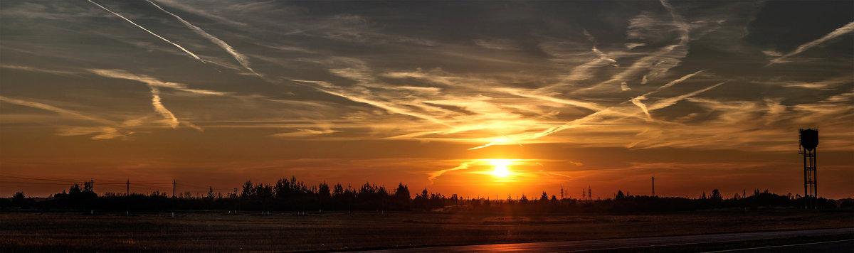 Панорама отравленного химтрейлами неба над Шумилино - Анатолий Клепешнёв