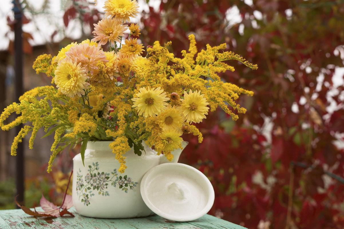 А осень все радует цветами - Элен .