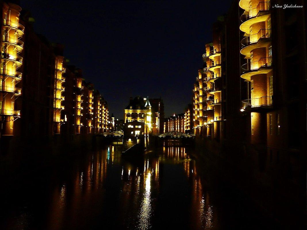 Hamburg. Wasserschloss Speicherstadt - Nina Yudicheva