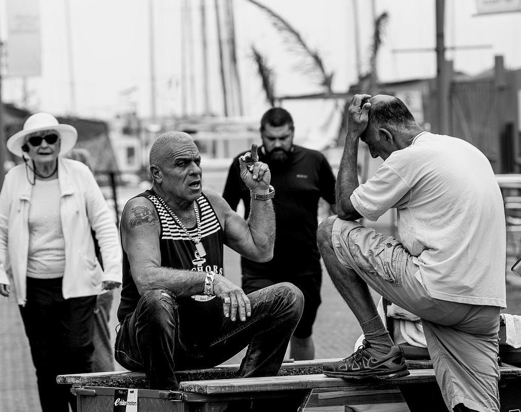 На набережной Тель-Авива в порту Яффо - Владимир Сарычев