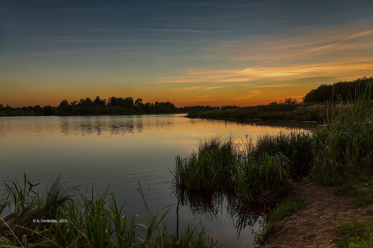 На озере после заката - Александр Синдерёв