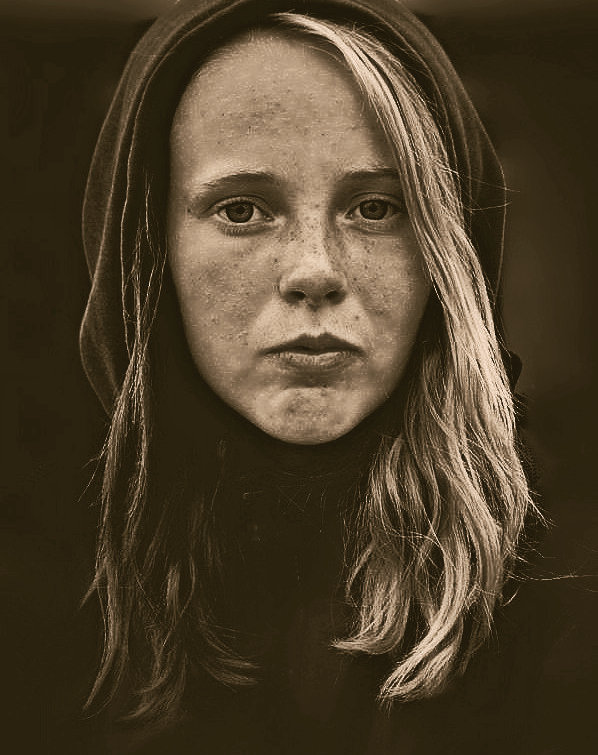 Уличный портрет девушки - Елена