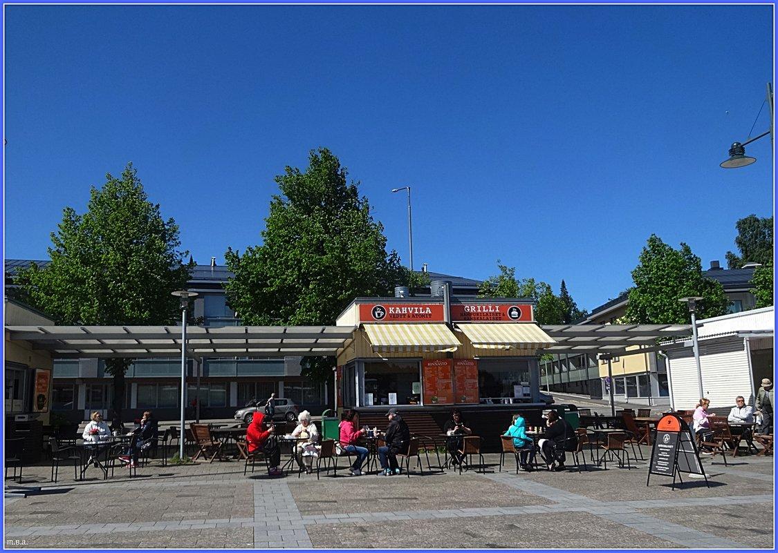 Кафе на берегу озера Сайма - Вера