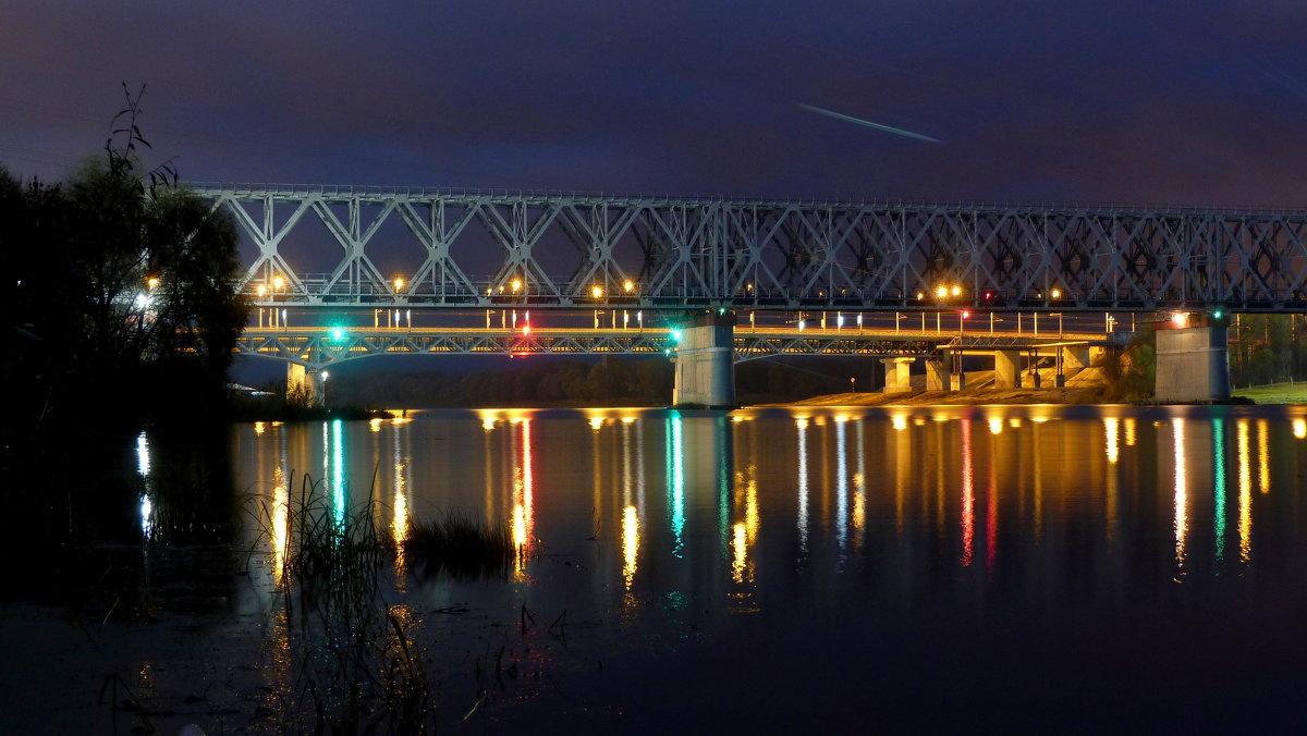 вечерний мост через Сож - Александр Прокудин