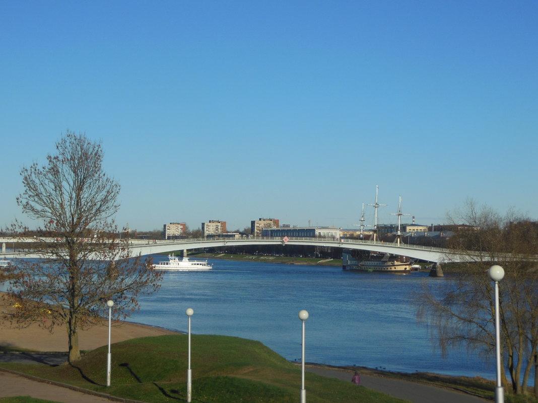 Река Волхов и Горбатый мост. - Татьяна