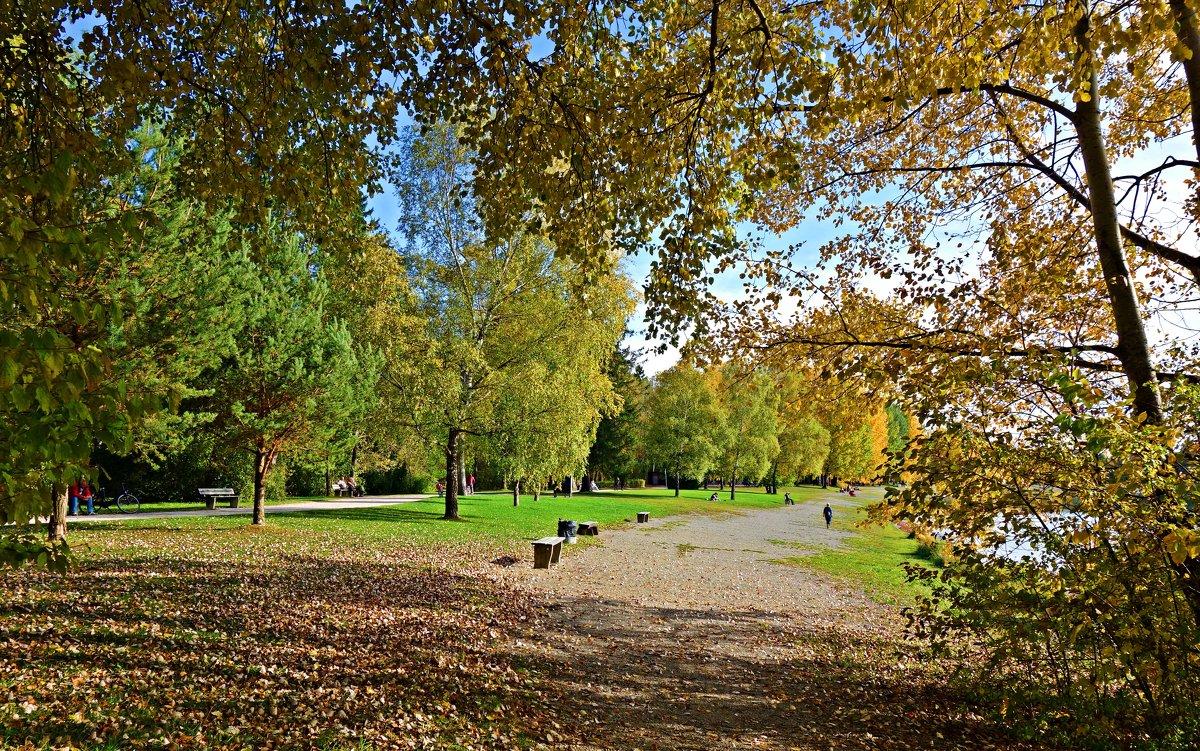 """""""Вы помните прелестный уголок - Осенний парк в цвету янтарно-алом?..."""" - Galina Dzubina"""