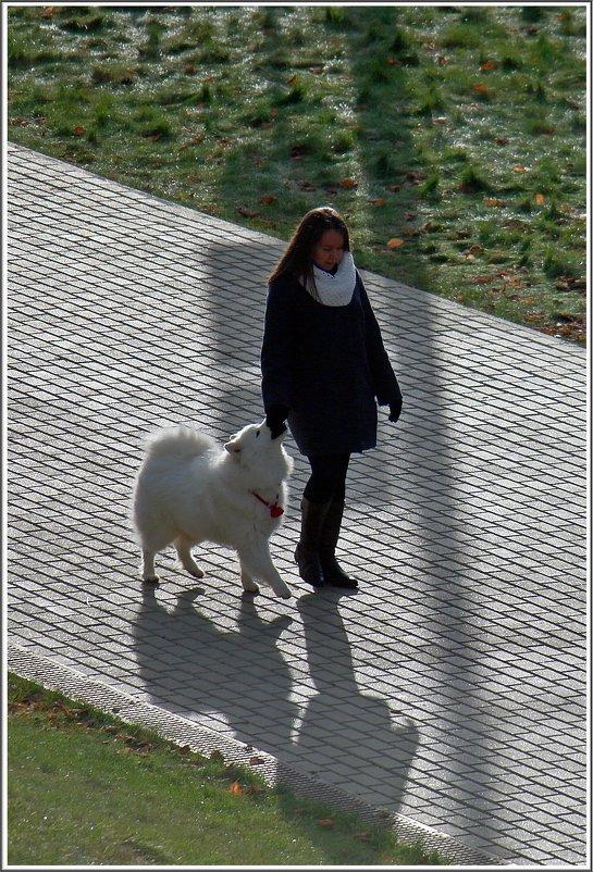 Дама с собачкой (Набережная Ижевска, ноябрь 2017) - muh5257