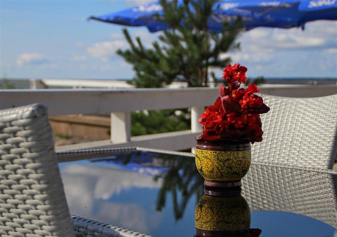 столик в кафе...в ожидании чашечки кофе - Татьяна Ивановна