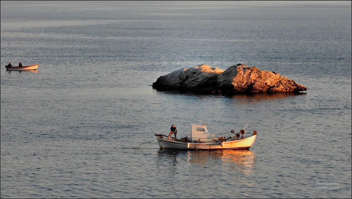 Эгейское море. Рыбаки. - Leonid Korenfeld