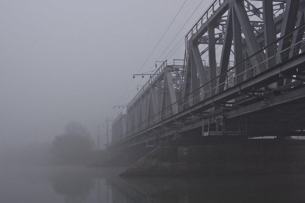 железнодорожный мост через реку Воронеж - Сергей Алексеев