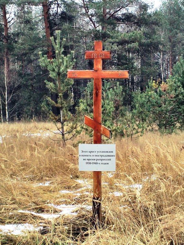 Памятный крест погибшим политзаключённым в 30-ые года прошлого века - Николай Варламов