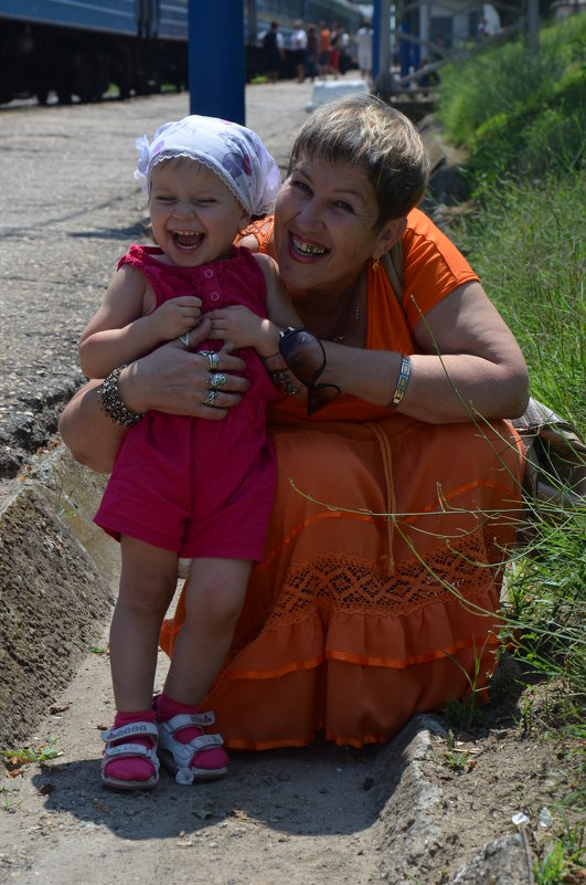Я и внучечка Лиза - Ольга