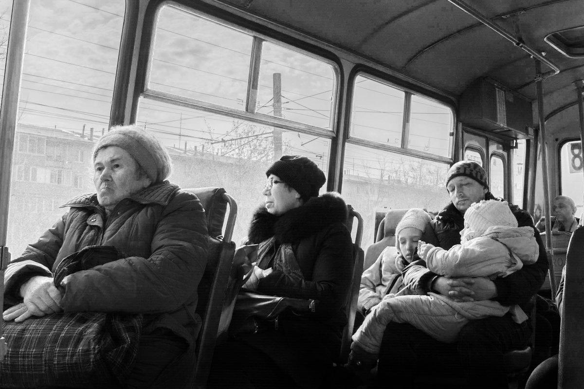 """Из серии """"В автобусе"""" - Галина Щербакова"""