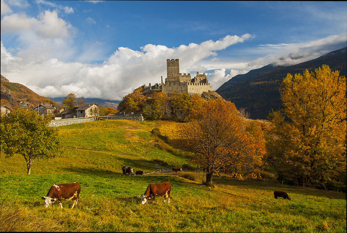 Замок в Альпах. - Светлана Риццо
