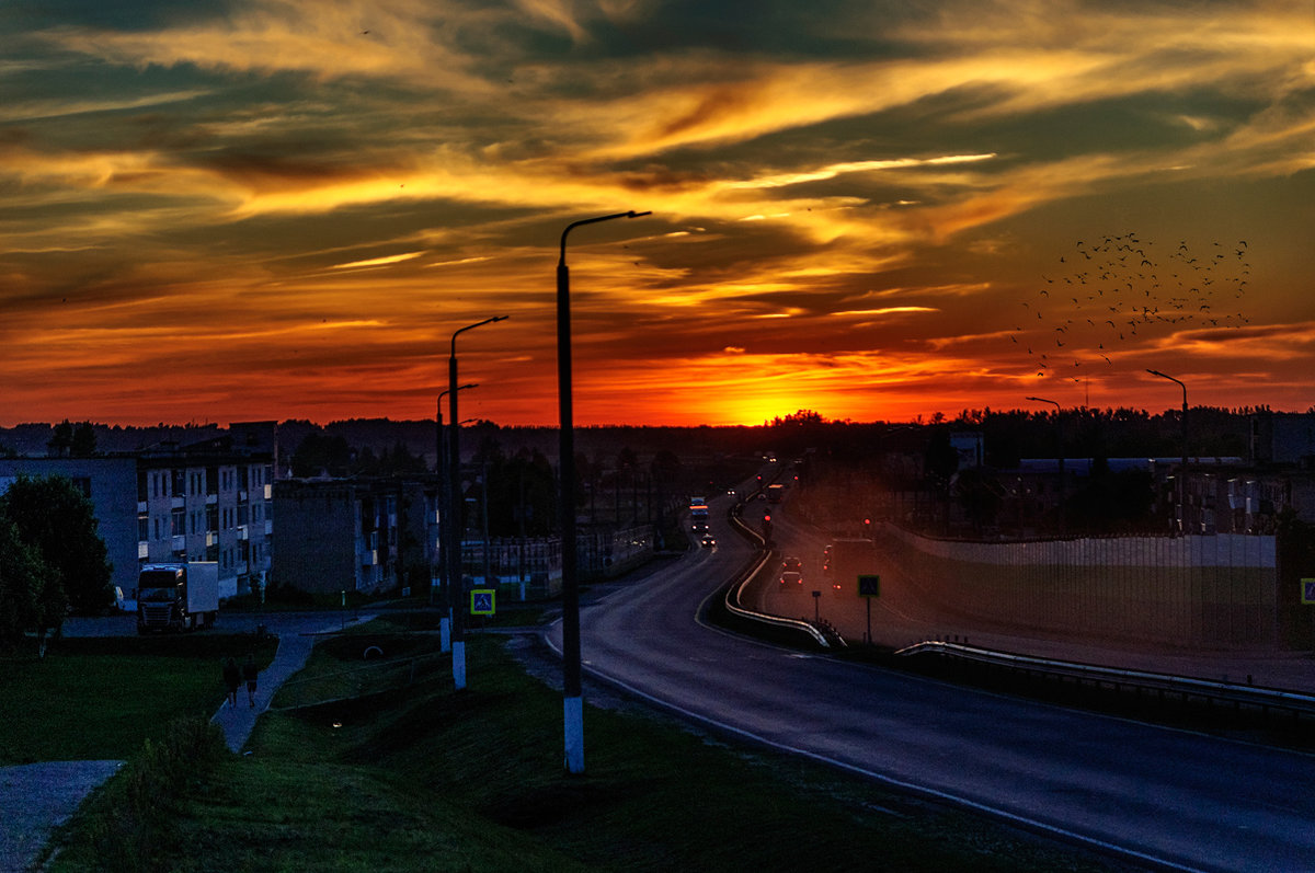 Закат над трассой. 16.06.2017 - Анатолий Клепешнёв