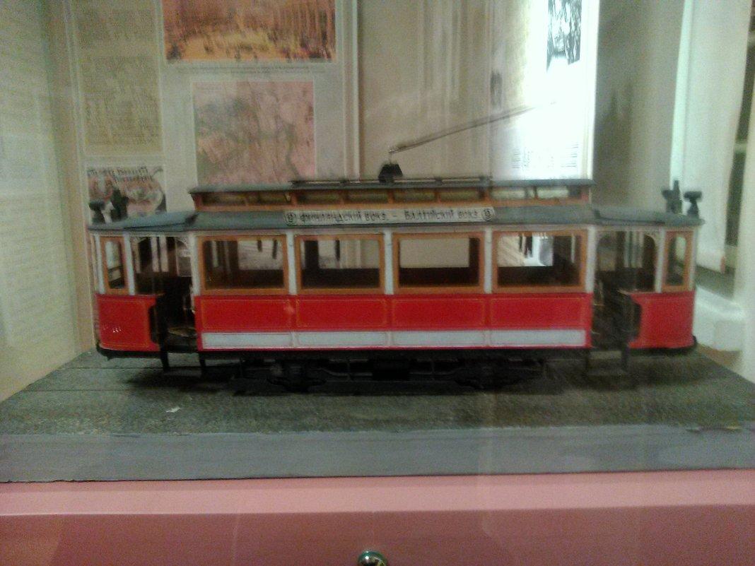 Модель первого трамвая в Петербурге, нач. 20 века. - Светлана Калмыкова