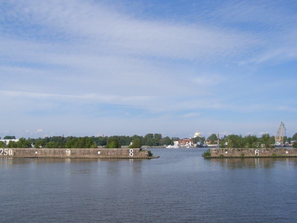 Кронштадт со стороны Финского залива - Анна Воробьева