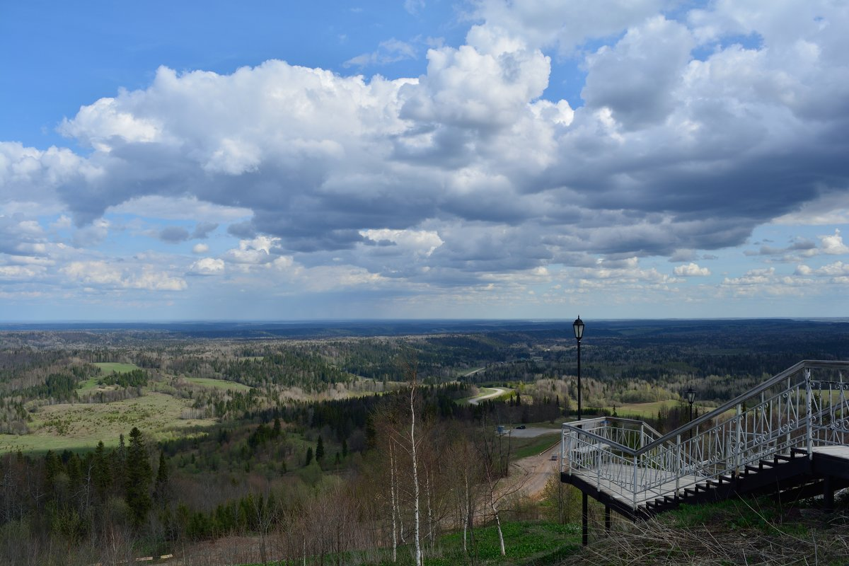 Белогорский Николаевский мужской монастырь. Вид с Белой горы - Александр Янкин