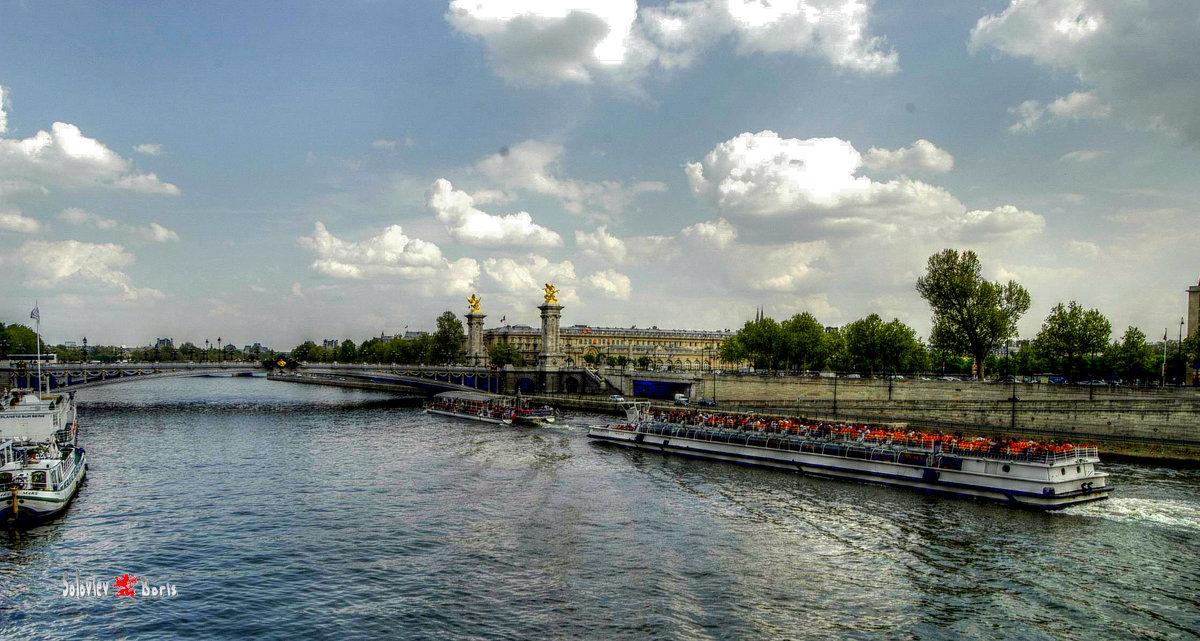 Париж, Сена - Борис Соловьев