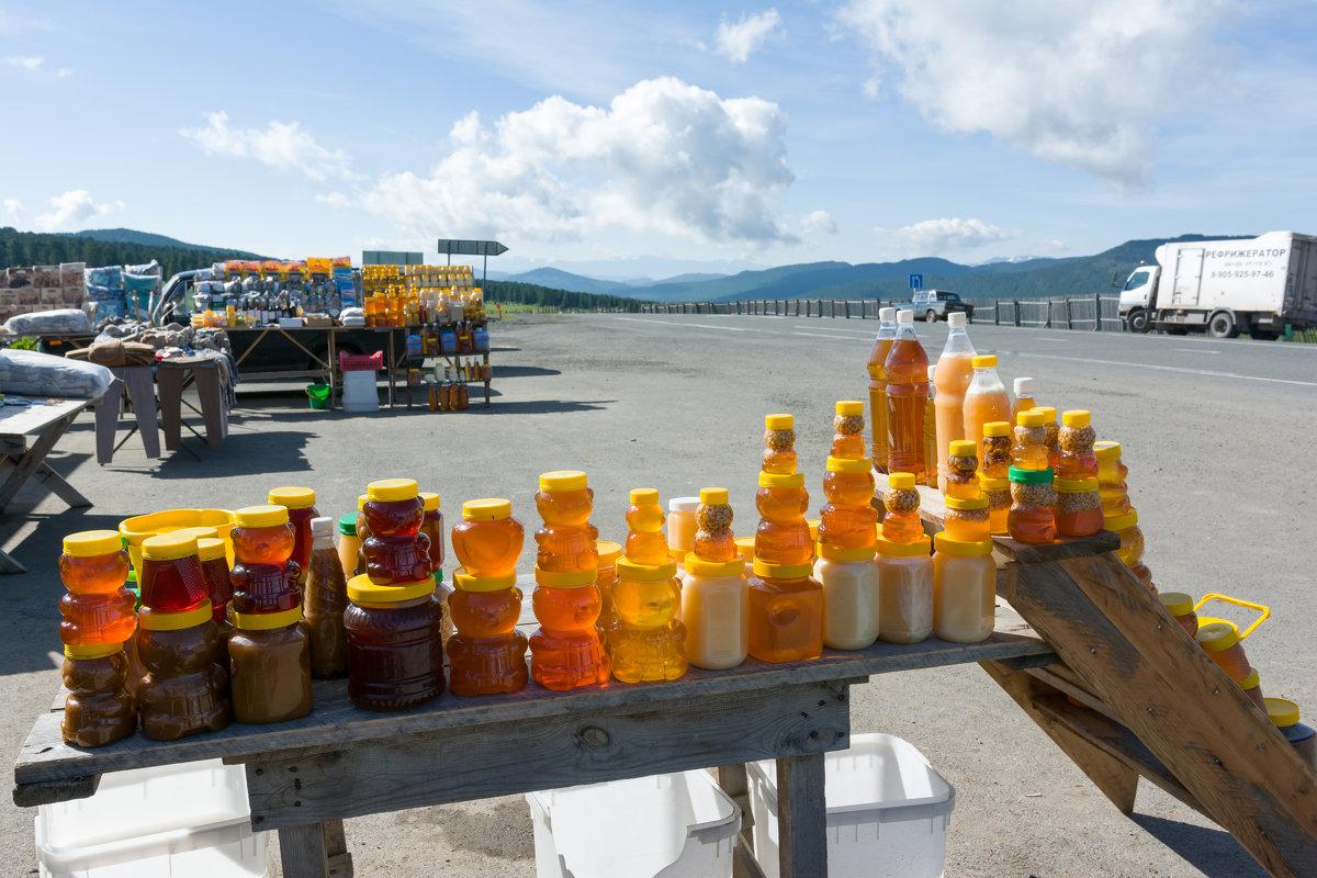 Торговля медом на Семинском перевале - Валерий Михмель