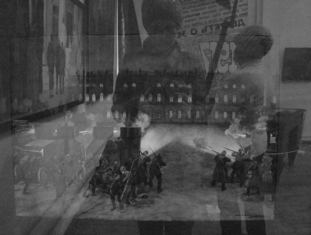На выставке - отражения (чб вариант) - Елена Перевозникова