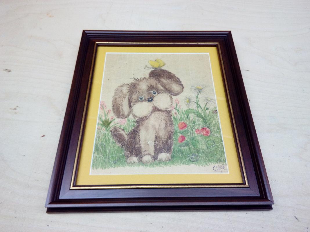 Картинка в раме под стеклом - Владимир (Багетный мастер)