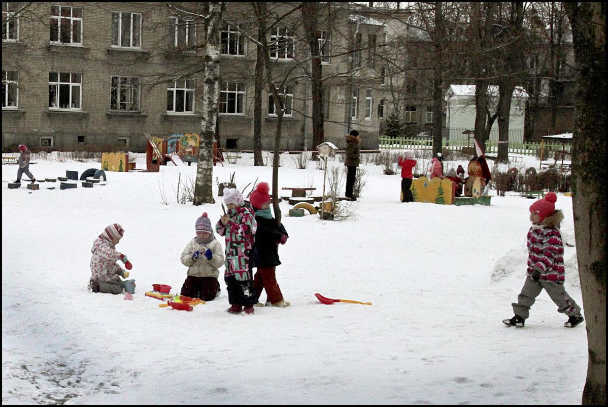Последний снежок - galina bronnikova