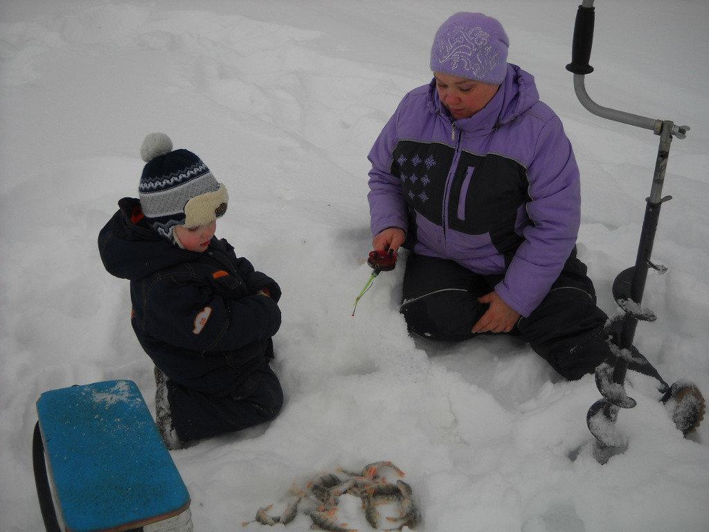 Зимняя рыбалка с внуком. - Елена Салтыкова(Прохорова)