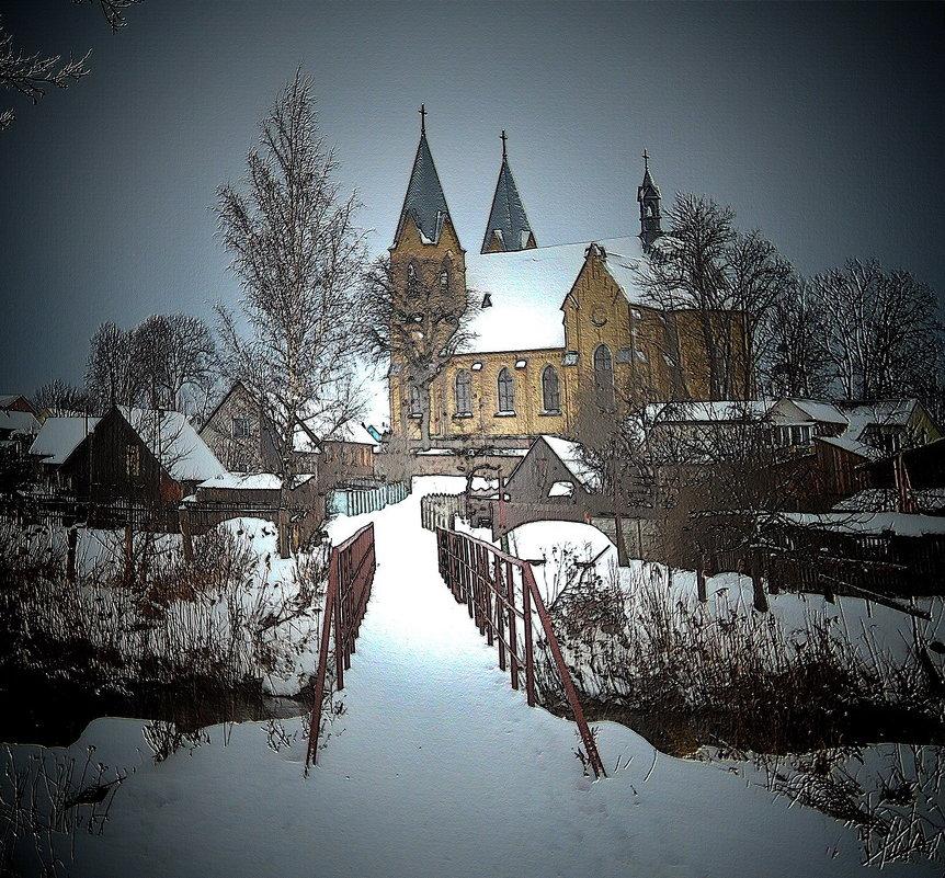 Зимний пейзаж - Александр Сапунов