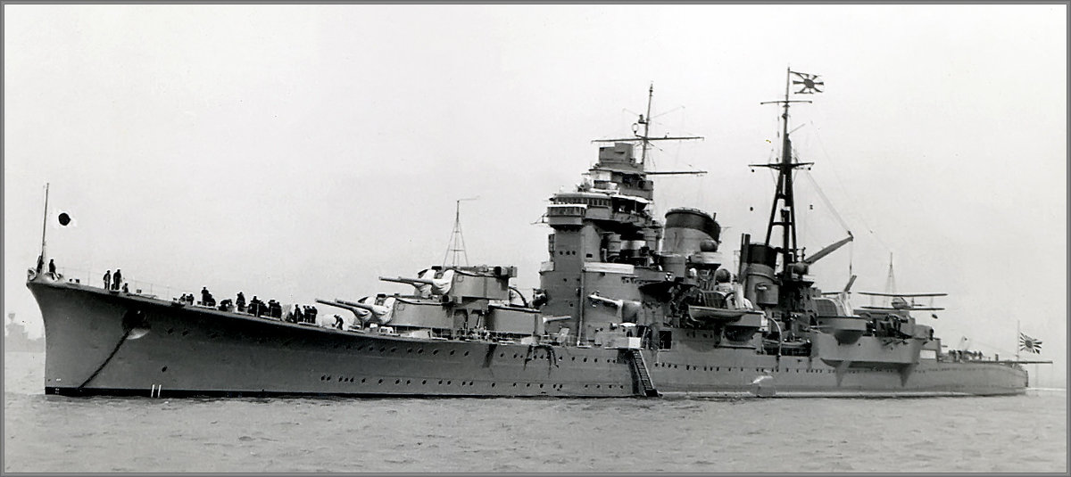 "I.J.N. heavy cruiser ""Ashigara"", Spithead Coronation Fleet Review, May 20th 1937. - Александр"