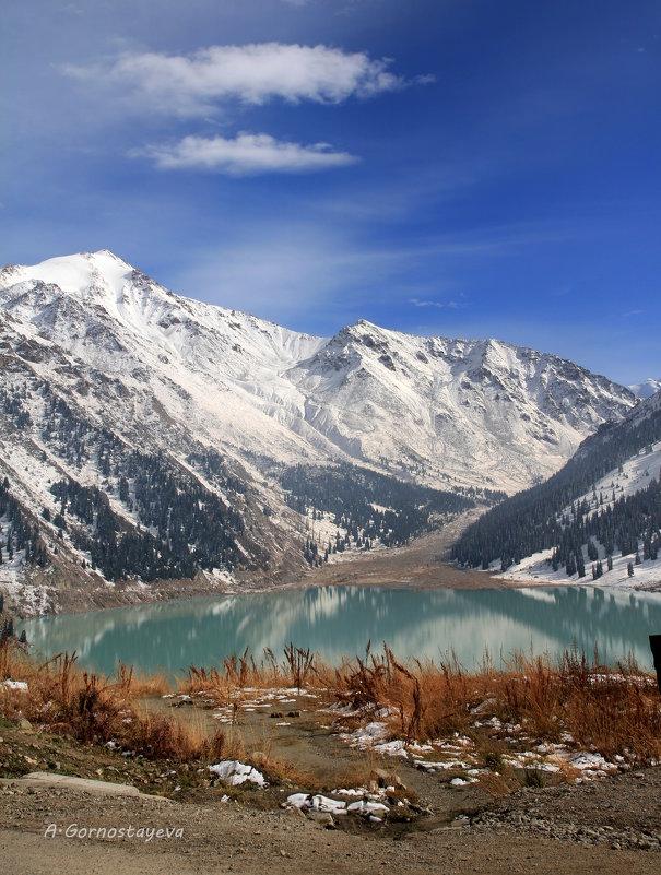 Большое Алматинское озеро расположенно в Заилийском Алатау на высоте 2511м над уровнем моря. - Anna Gornostayeva