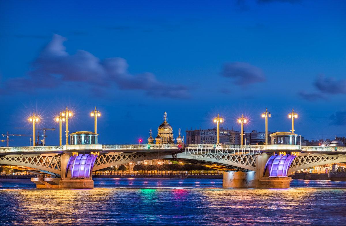 Благовещенский мост ночью - Юлия Батурина