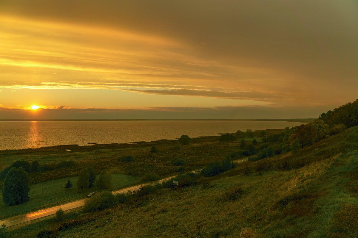 закат на Плещеевом озере - Максим Ершов