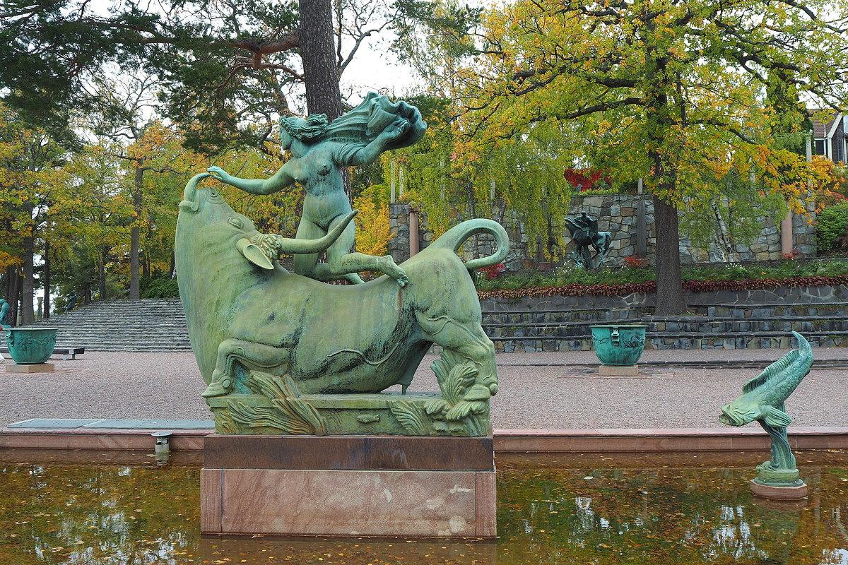"Скульптор Карл Миллес фонтан ""Европа и Бык"" - Swetlana V"