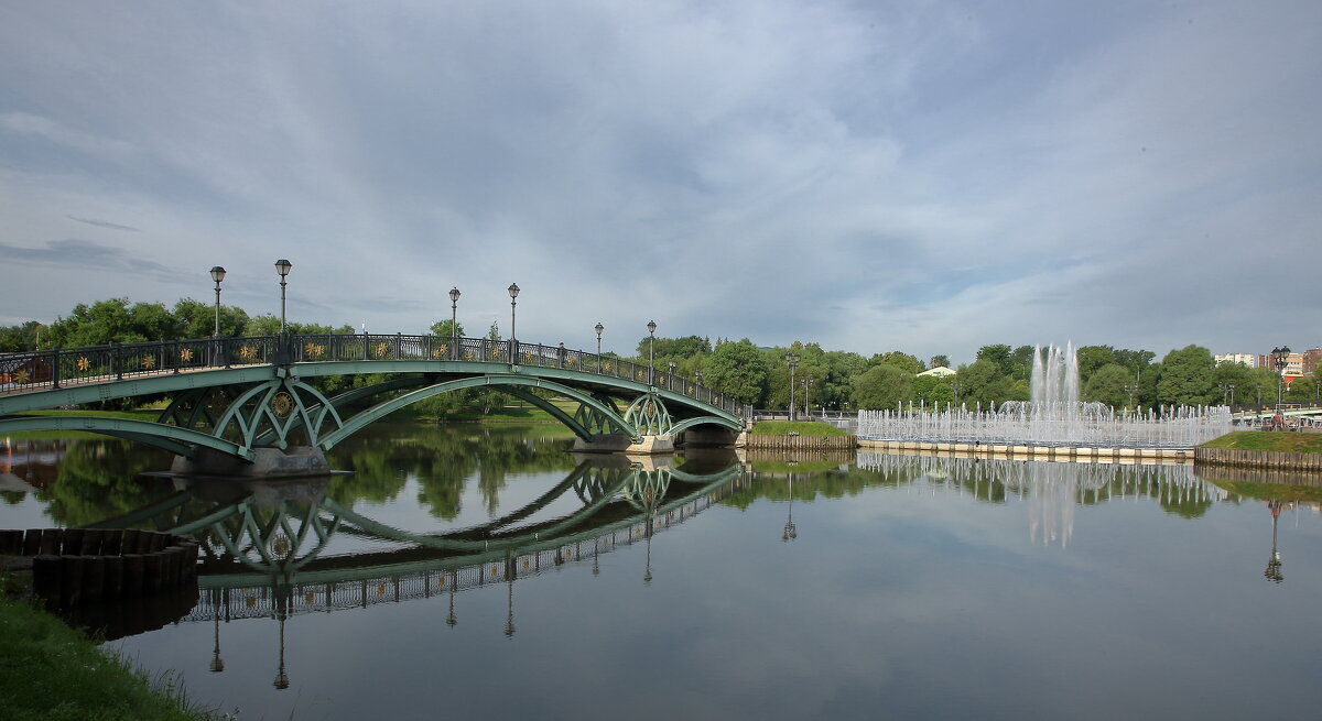 Мост к фонтану. - Александр Сергеевич