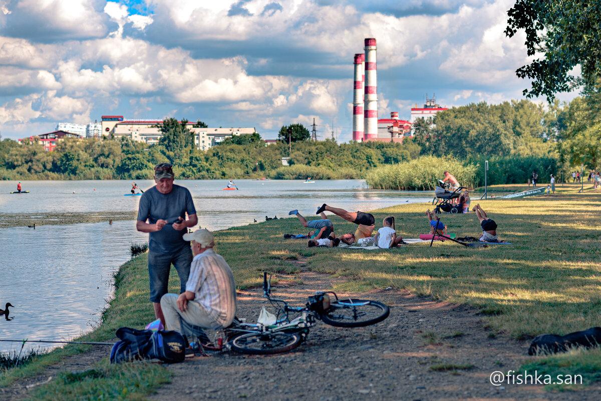 Утро на озере Старая Кубань.... - Ирина Комолова