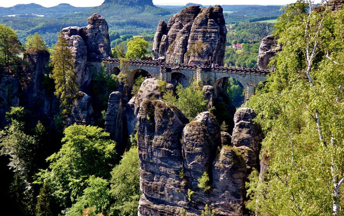 Бастай - каменный бастион Саксонской Швейцарии, удивительное место , поражает  величием - backareva.irina Бакарева
