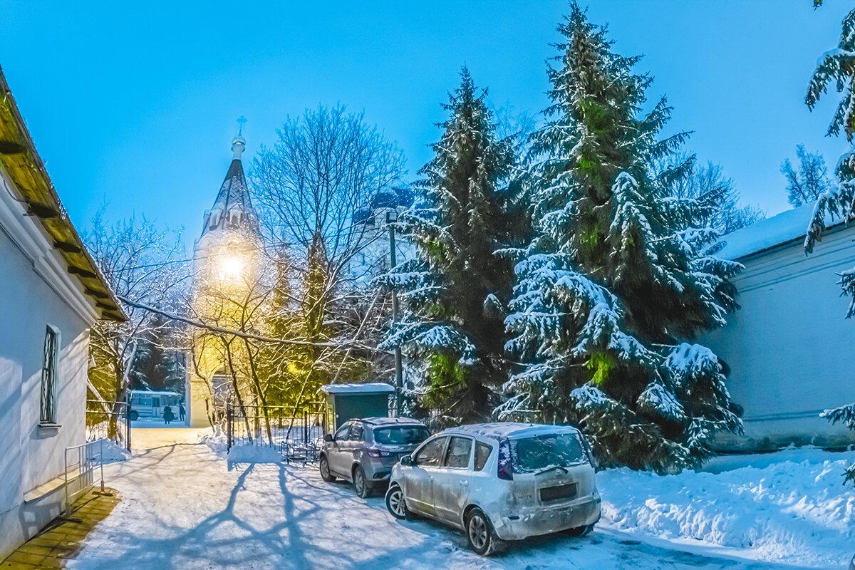 Рождественская ночь в Коломенском, Москва. - Игорь Герман