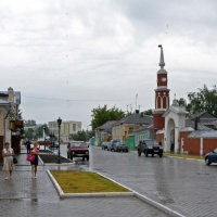 Коломна. Улица Лажечникова. Дождь :: Борис Русаков