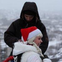 Снегурочка на прыжках :: Дмитрий Арсеньев