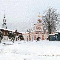 валдайские зарисовки(иверский монастырь),,а снег падал :: юрий макаров