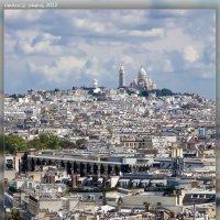 Париж. Вид с Триумфальной арки на Монмартр и базелику Сакре-Кёр :: DimCo ©