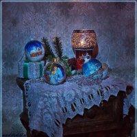 Синий вечер в Рождество :: Надежда Лаптева
