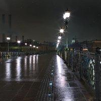моя столица ночная москва(мост к храму христа спасителя) :: юрий макаров